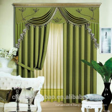 green eye protective blackout curtain with natural look